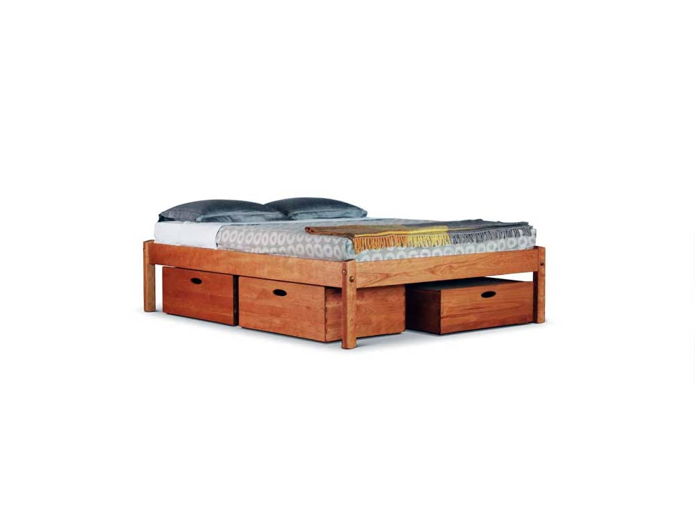 Wooden Bed With Built In Side Tables Home Decor Ideas